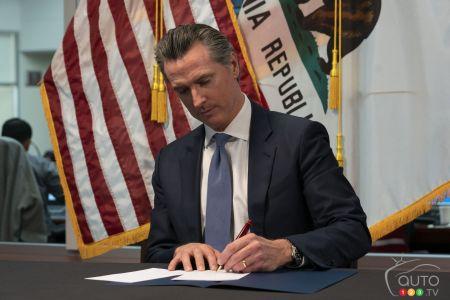Gavin Newsom, governor of the state of Californie
