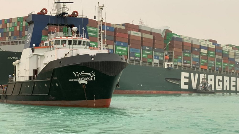 Giant cargo ship causes marine traffic jam by blocking Egypt's Suez Canal