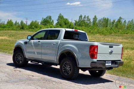 2021 Ford Ranger Tremor, three-quarters rear