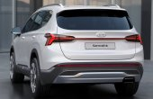 2021 Hyundai Santa Fe Changes Rear Angle Tail Lights