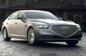 2021 Genesis G90 Exterior Changes Front Angle With New Headlamp and Grill