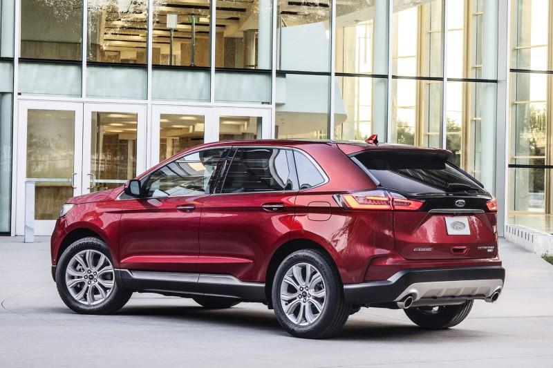 2021 Ford Edge Red Color Titanium Pricing