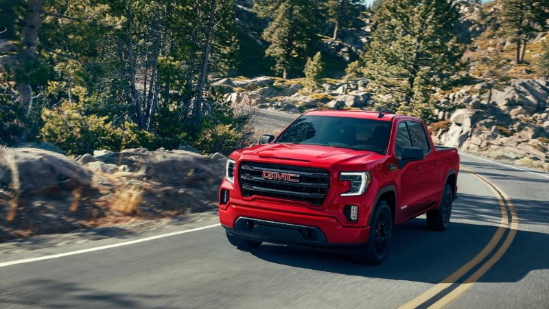 2021 GMC Sierra 1500 Red Color Images