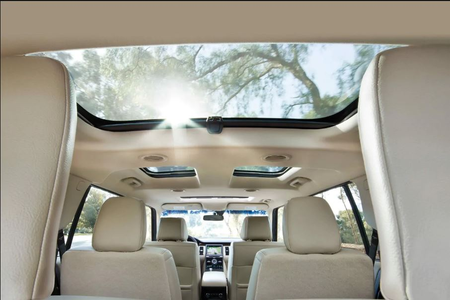2021 Ford Flex Interior Beach Color with elegant Panoramic Sunroof