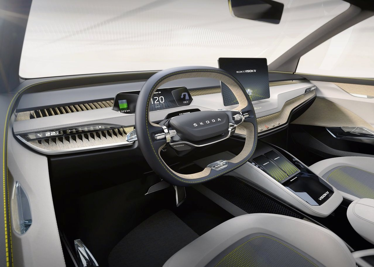 Interior of Skoda Eniaq Electric SUV