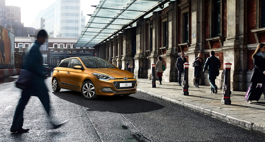 2021 Hyundai i20 Mandarin Orange Color