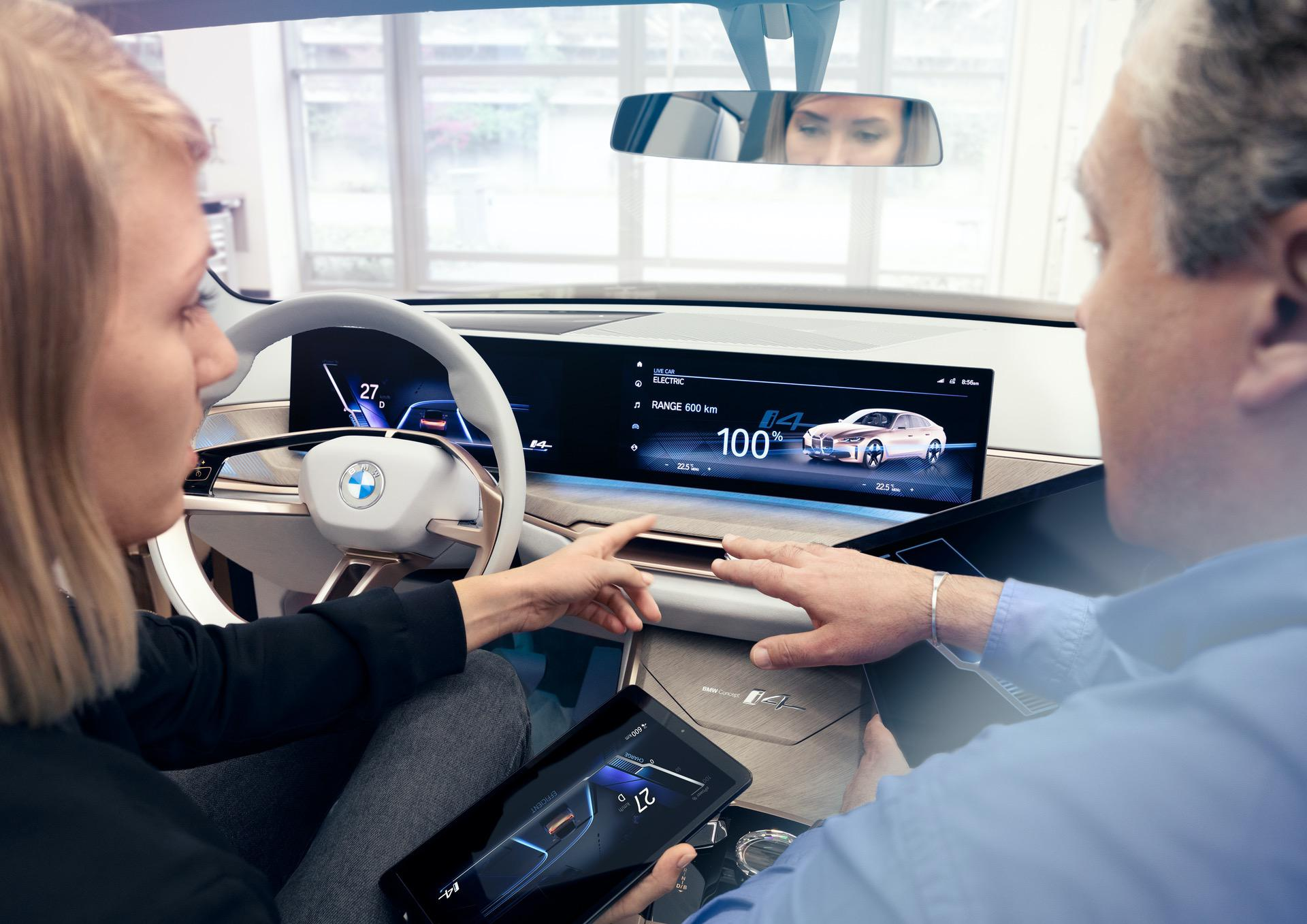 New BMW i4 Electric Interior Images