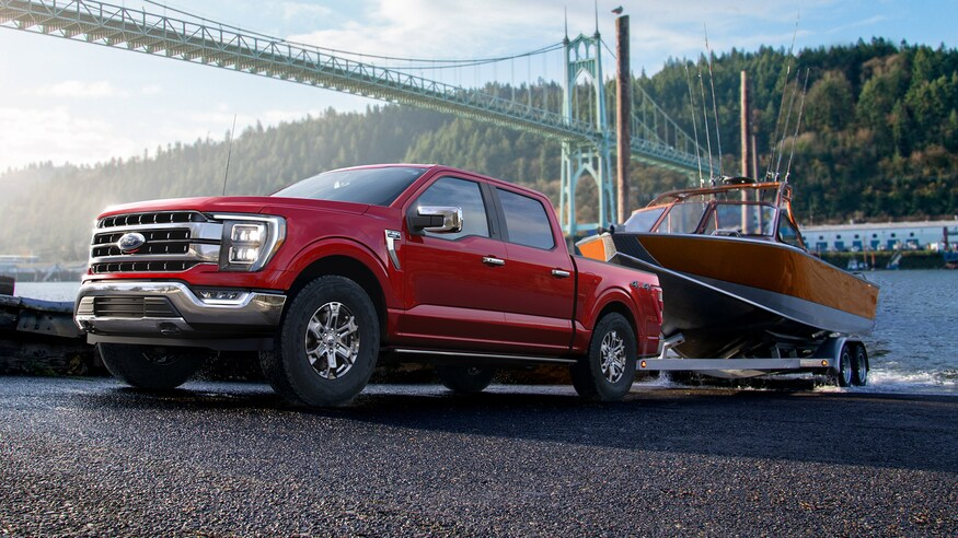 2022 Ford F-150 Electric Pickup Truck Towing Capacity