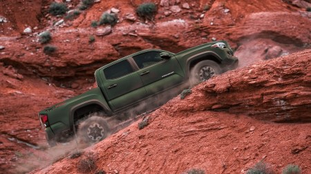 New Toyota Tacoma Pickup Truck Army Green Color All-wheel-Drive