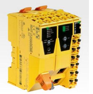 안전 어플리케이션은 SafeLOGIC 컨트롤러에서 실행되고, 이 컨트롤러는 또한 안전 모드 선택도 모니터링한다.
