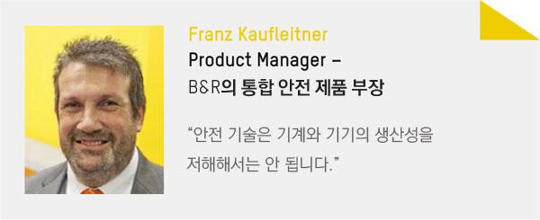 Franz Kaufleitner, Product Manager
