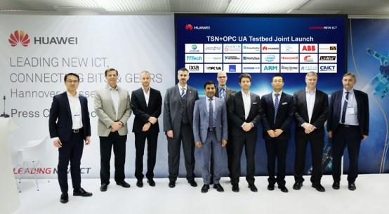 하노버 전시회 (Hannover Messe)에서 새로운 OPC UA TSN 테스트베드가 소개되었다. 자료 제공: 화웨이 (Huawei)