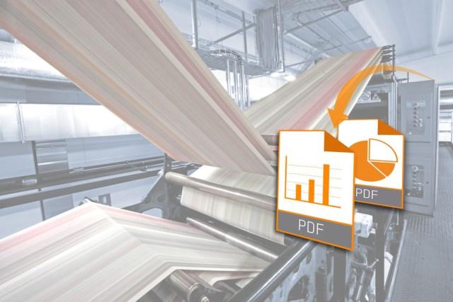 mapp Report 소프트웨어 컴포넌트는 기계의 데이터를 바탕으로 PDF 보고서를 자동으로 생성하는데 사용될 수 있다.