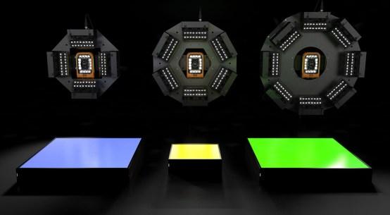 B&R의 조명은 설계가 유연한 라이트 바(Light bar), 백라이트(Backlight), 링라이트(Ring light)가 있다.