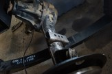 New rear spring perches welded in at the correct angle.