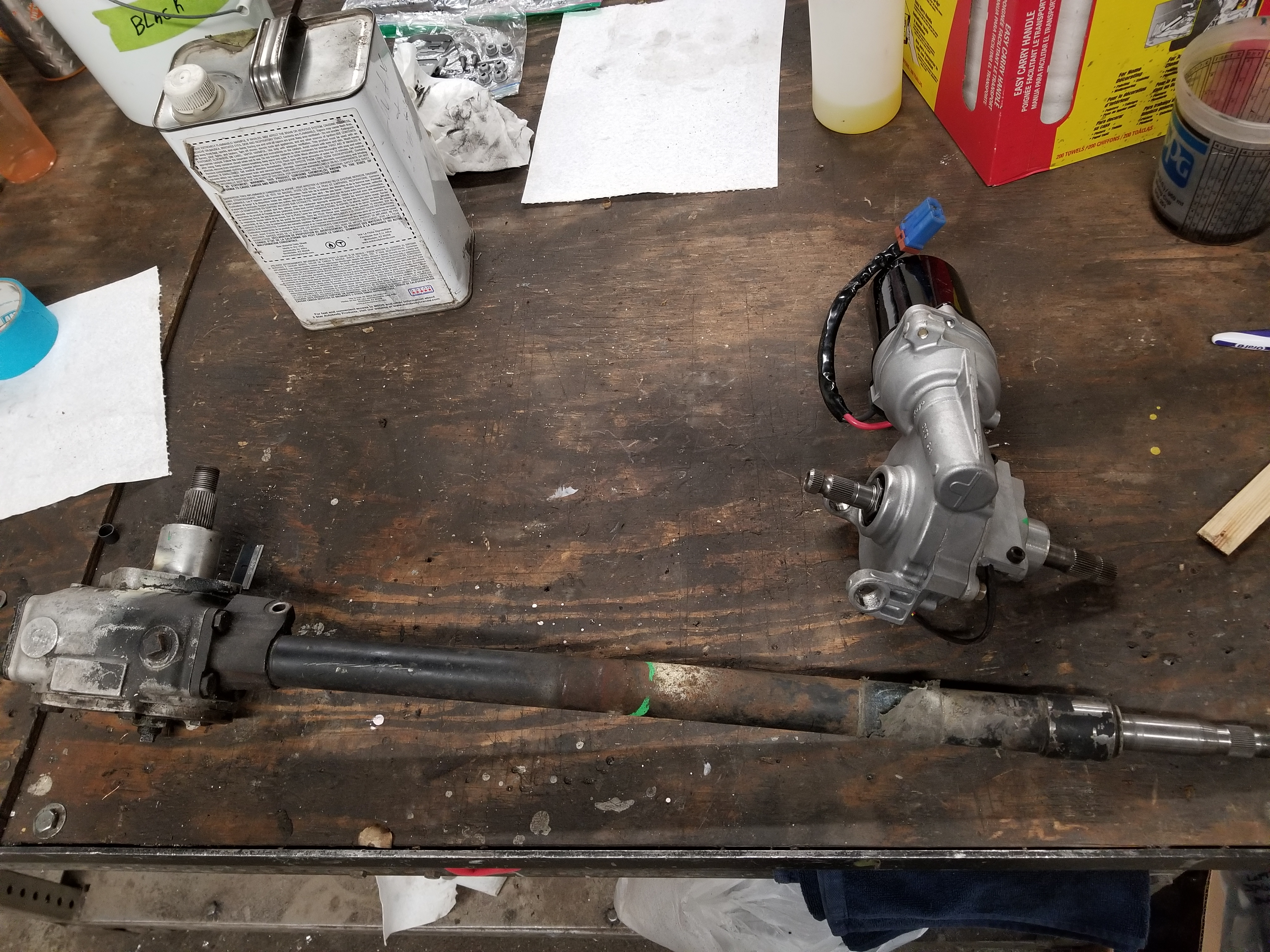 Land Rover Series 3 : Electric Power Steering Conversion