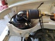 Refurbished air cleaner assembly with new clamps, latches & hose