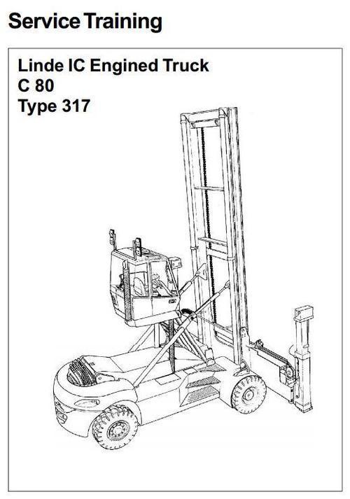 Linde Container Handler Type 317: C80/3, C80/4, C80/5, C80