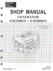 Honda EM1600 EM1800 And EM2200 Generator Shop Manual