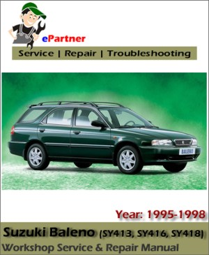Suzuki Baleno Service Repair Manual 19951998 | Automotive