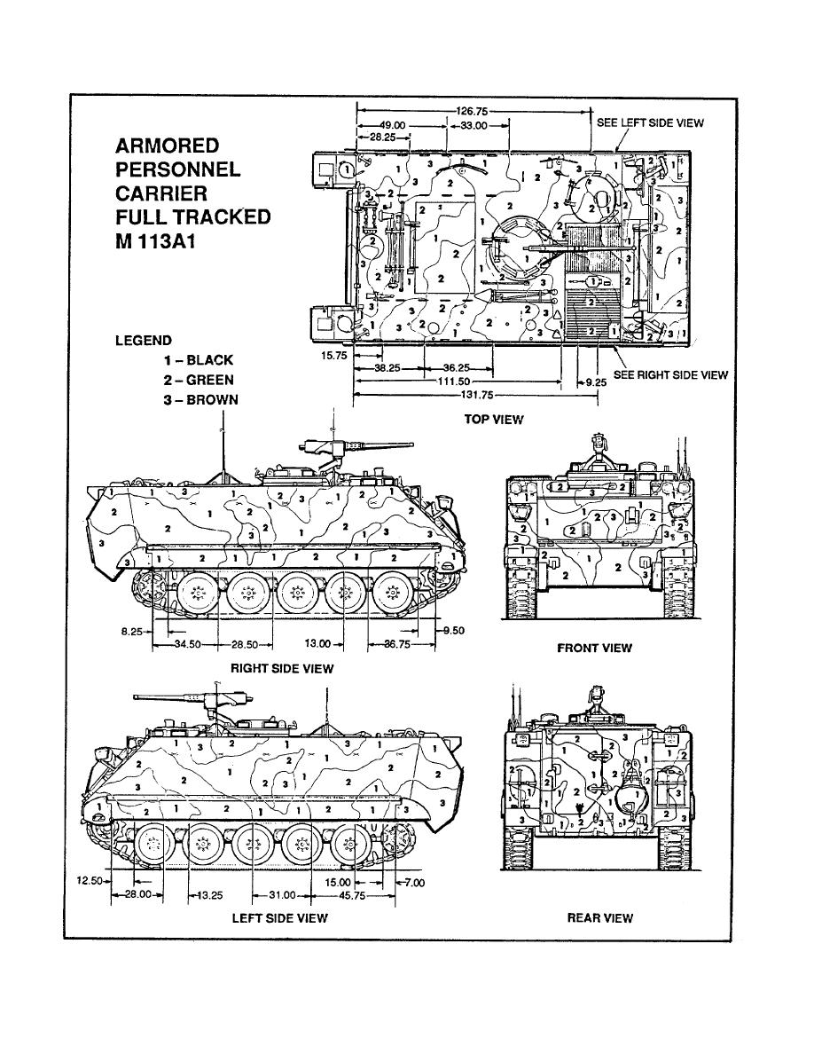 Figure 31. Pattern Painting Design for the M113AI