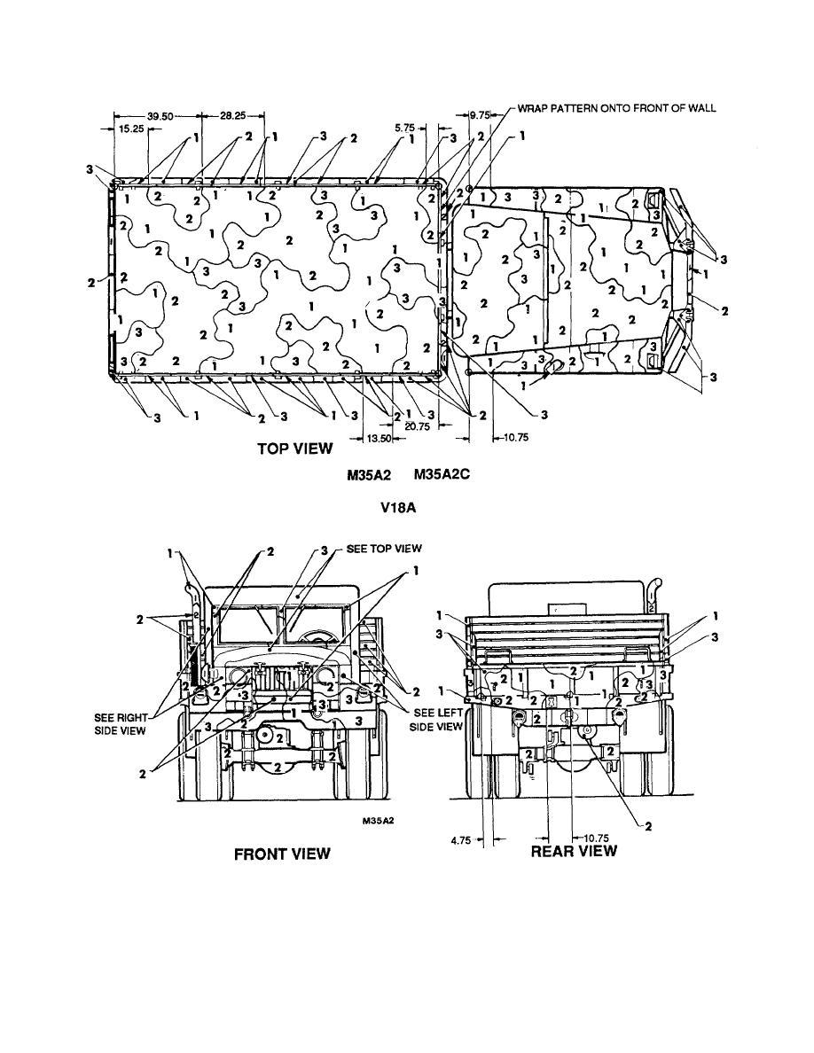 Figure 47. Truck, cargo/personnel: 6 x 6, 2-1/2-ton, M35A2