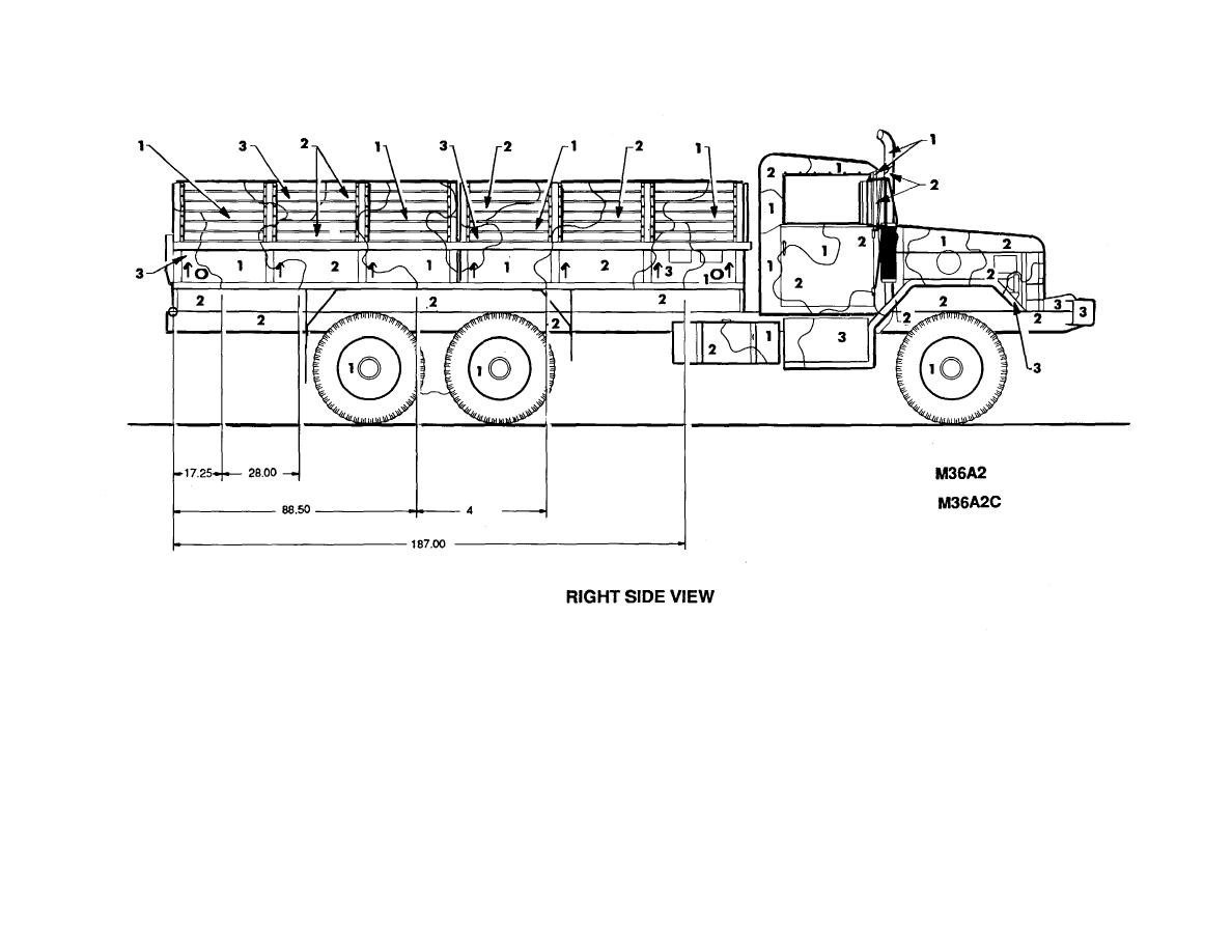Figure 49. Truck, cargo: 2-1/2-ton SLWB, M36A2 and M36C