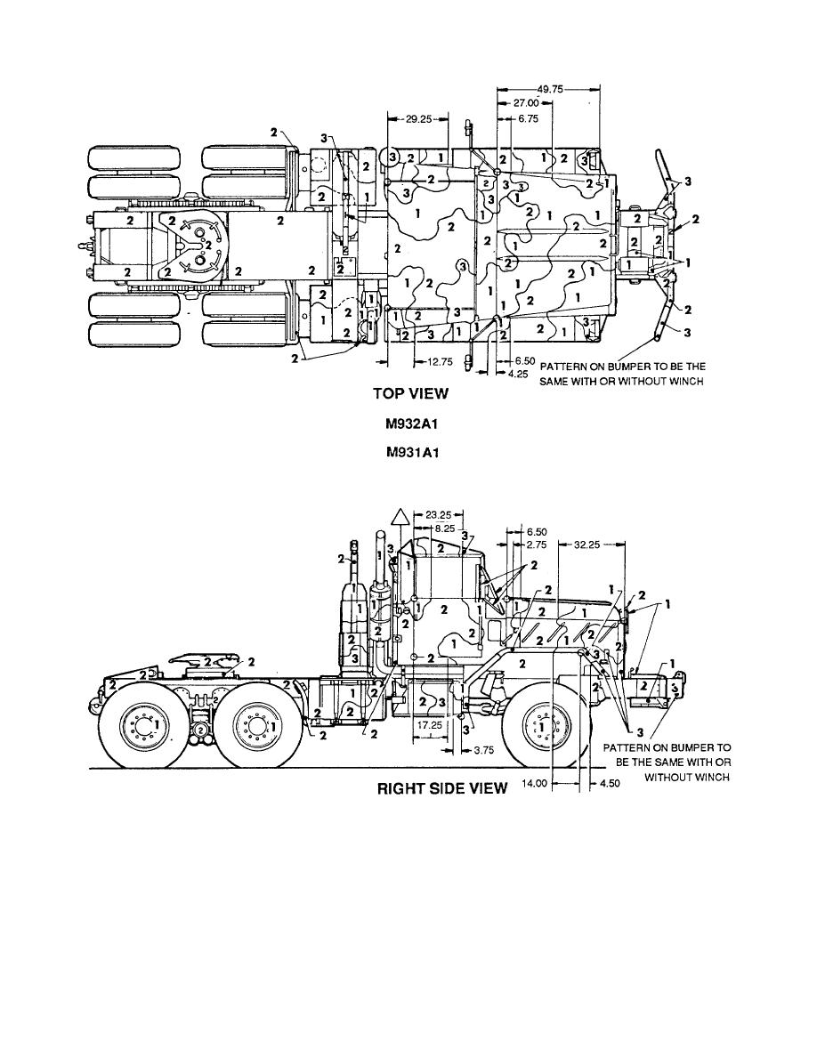 Figure 71. Truck, tractor: 5-ton, M931A1 and M932 Al. (1 of 2)