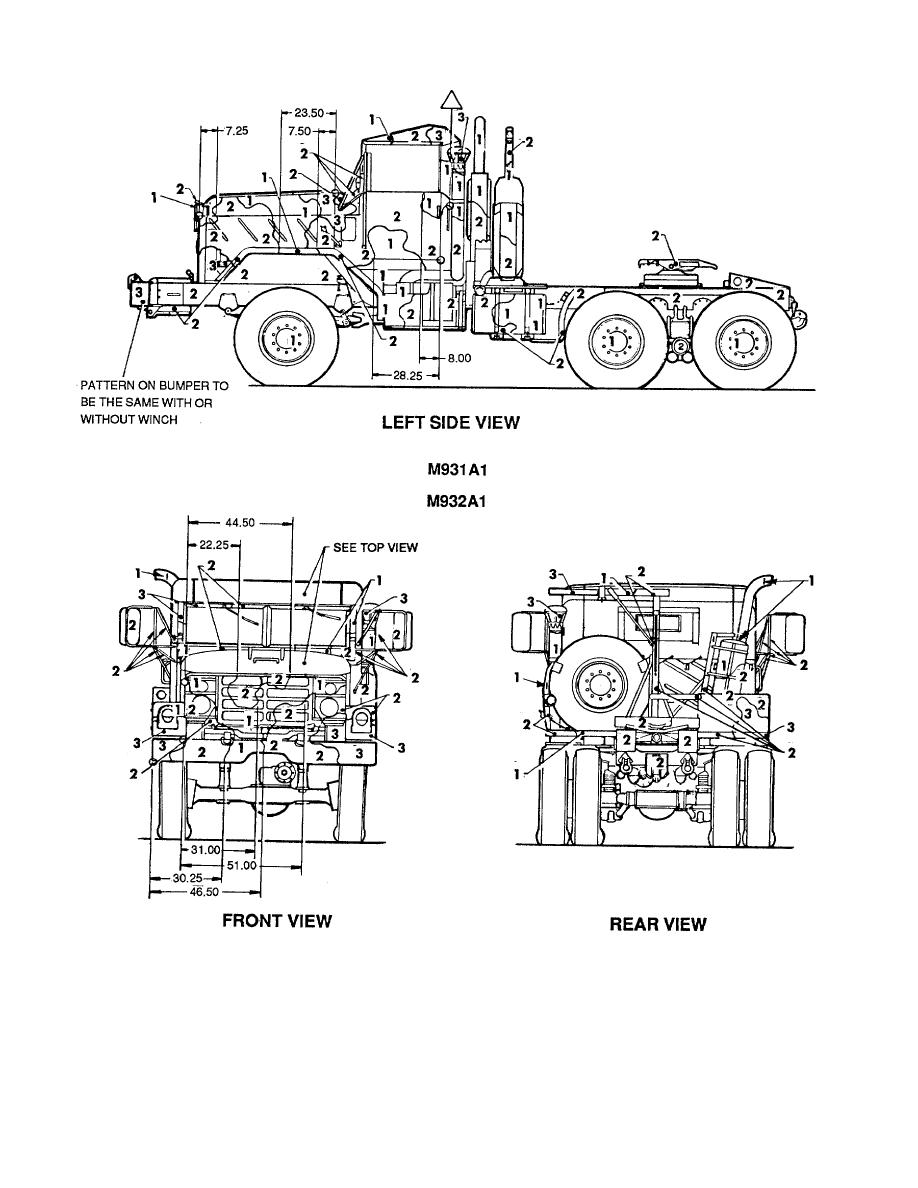 Figure 71. Truck, tractor: 5-ton, M931A1 and M932A1. (2 of 2)