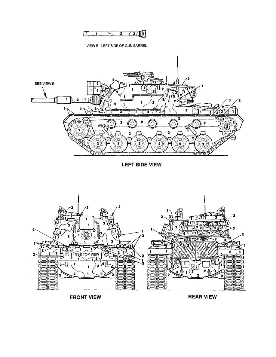 Figure 95. Tank, combat, full tracked: 105-mm gun, M48A5