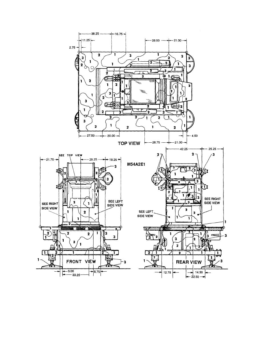 Figure 97. Launcher, platform, M54A2E1. (1 of 2)