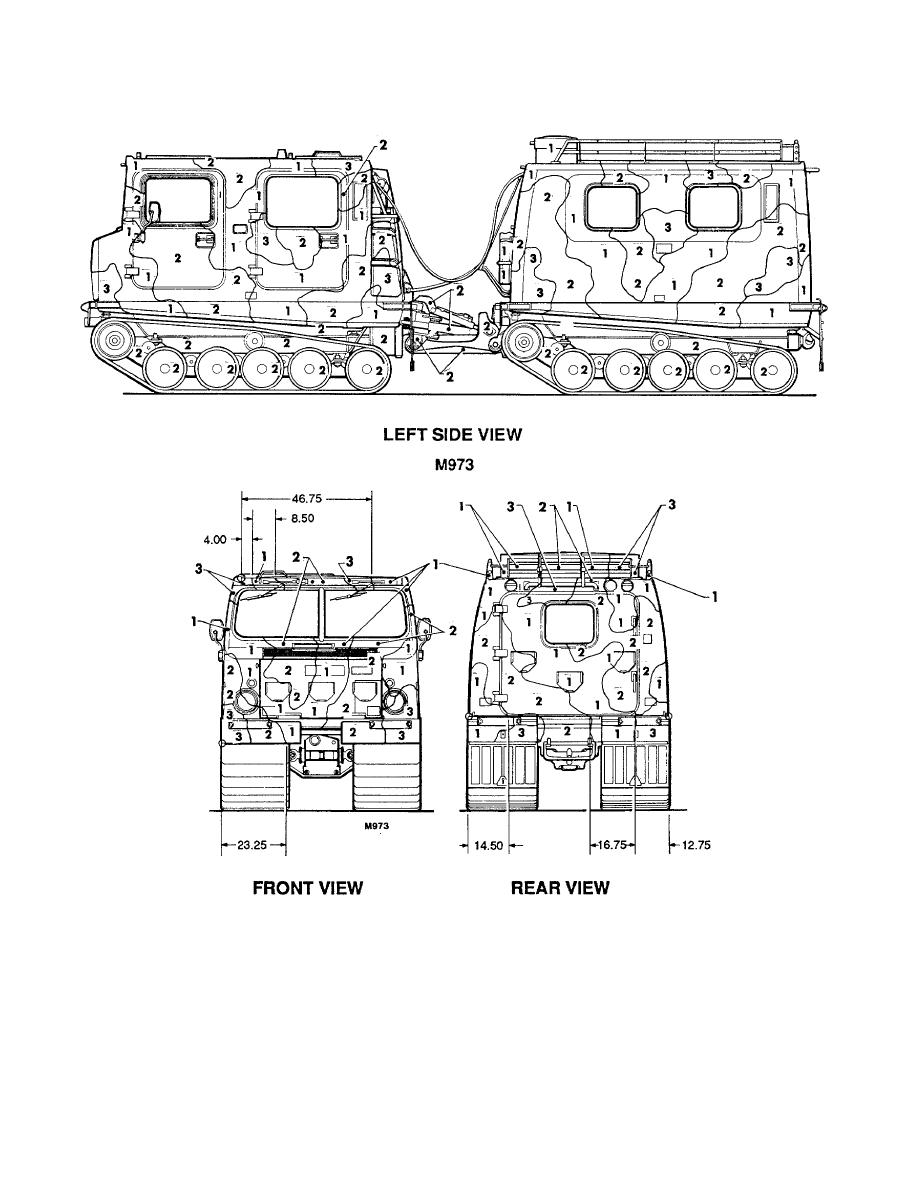 Figure 118. Carrier, cargo, tracked, 1-1/2-ton, M973. (2 of 2)