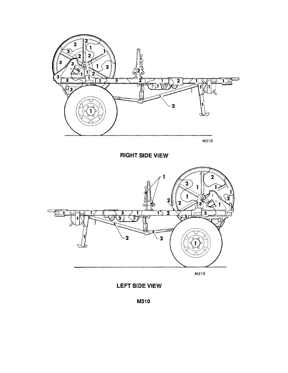 Figure 126. Trailer, cable reel: M310. (2 of 2)
