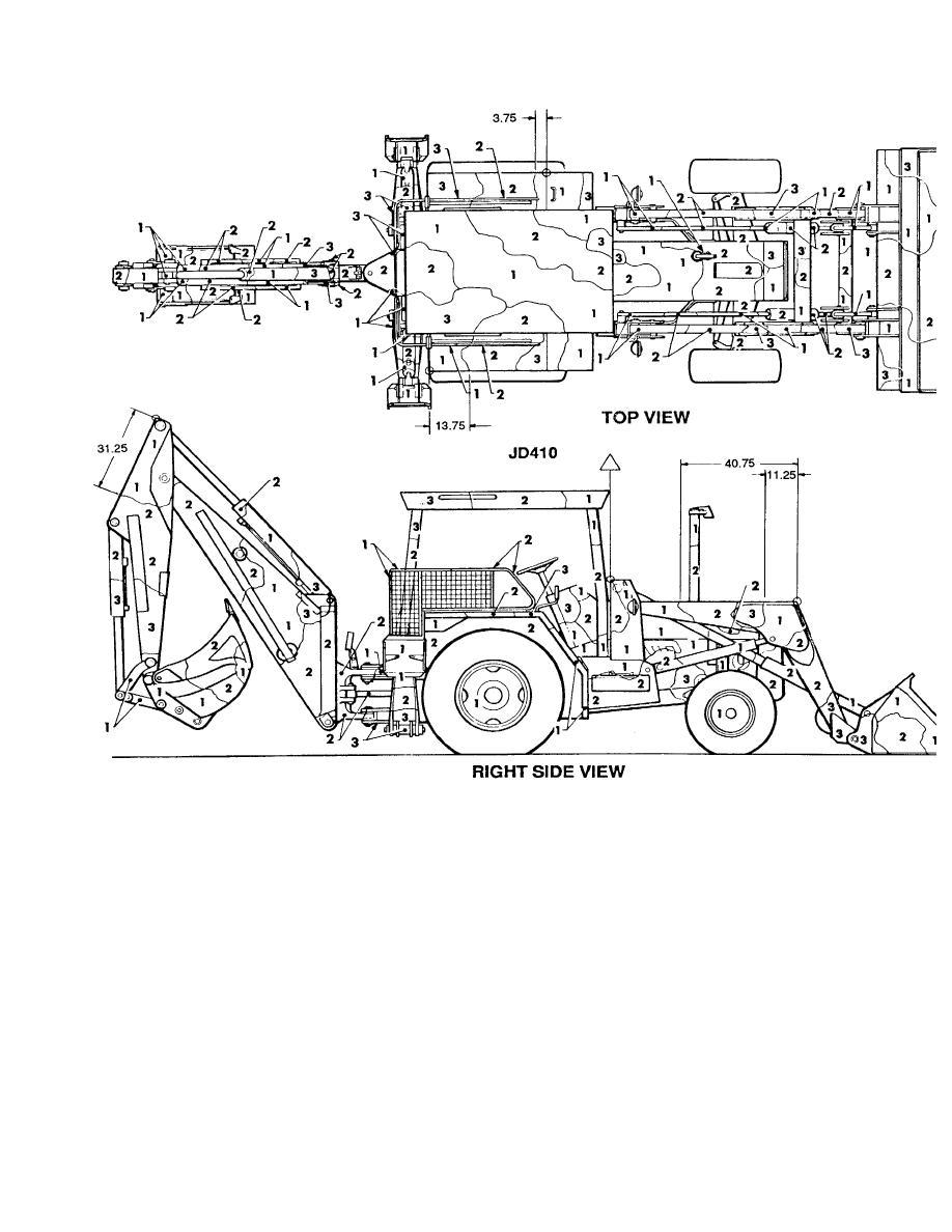 Figure 156. Tractor, wheeled, DED, w/backhoe, w/front