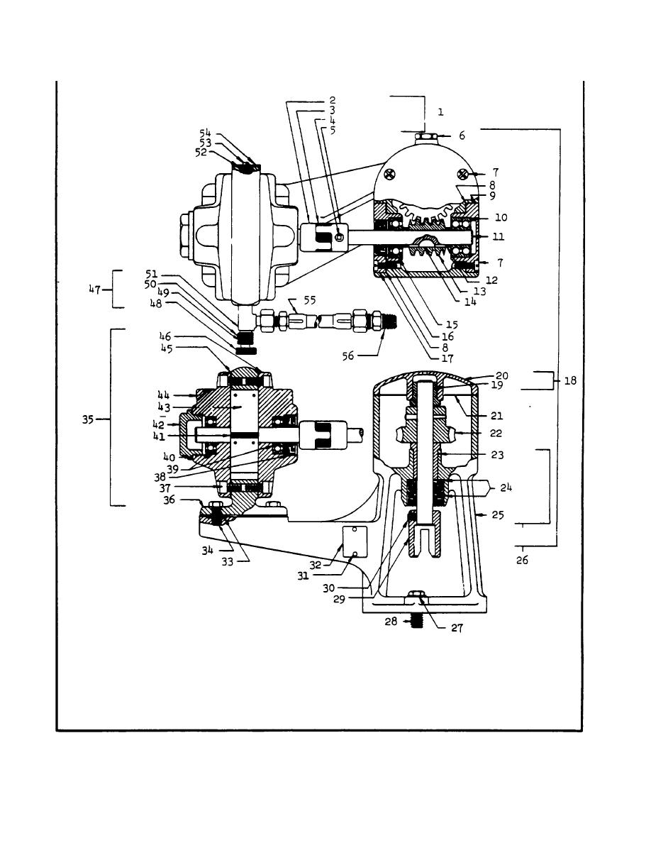 Figure 1. Model 31-116 air motor drive unit.