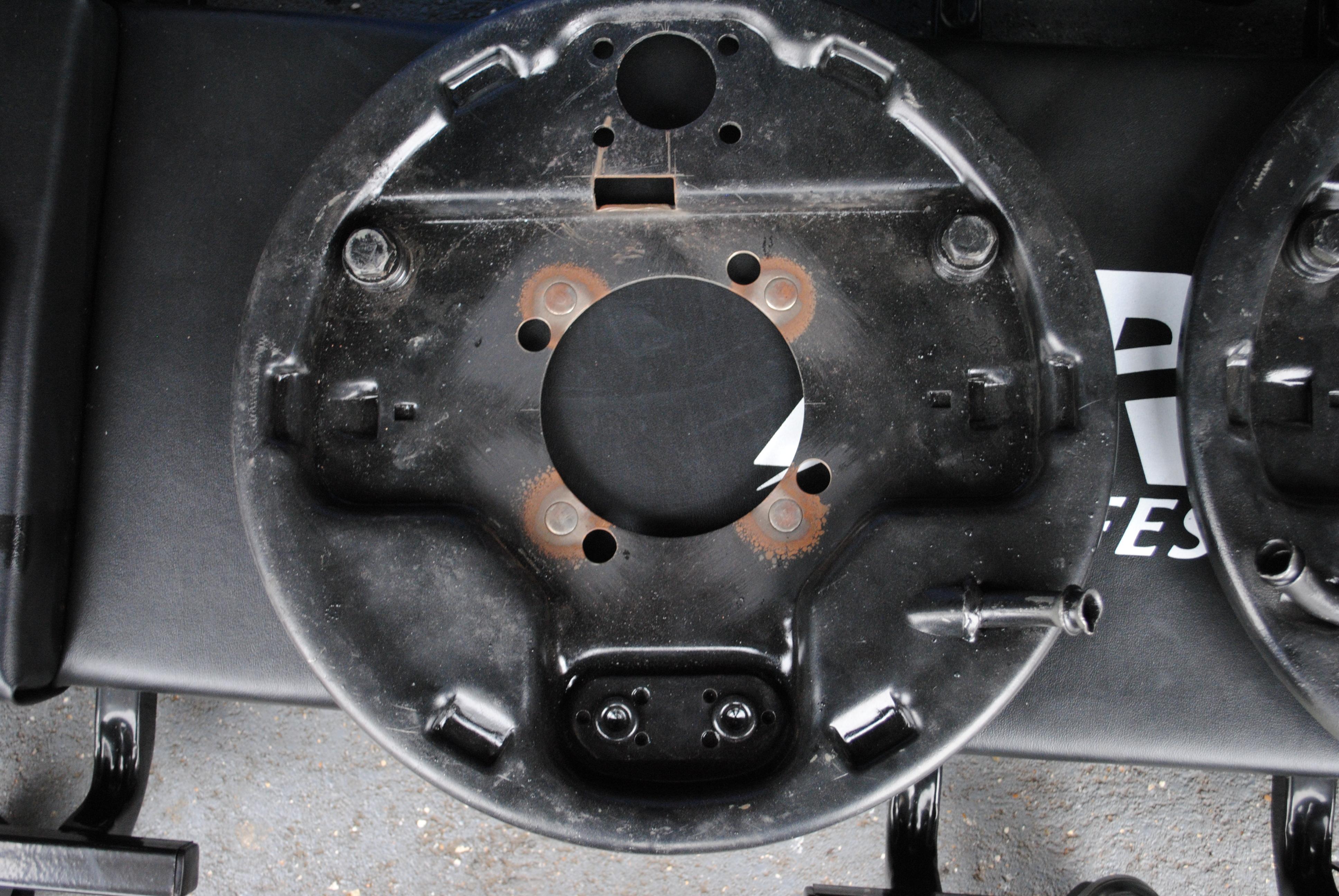 Rear brake backing plates
