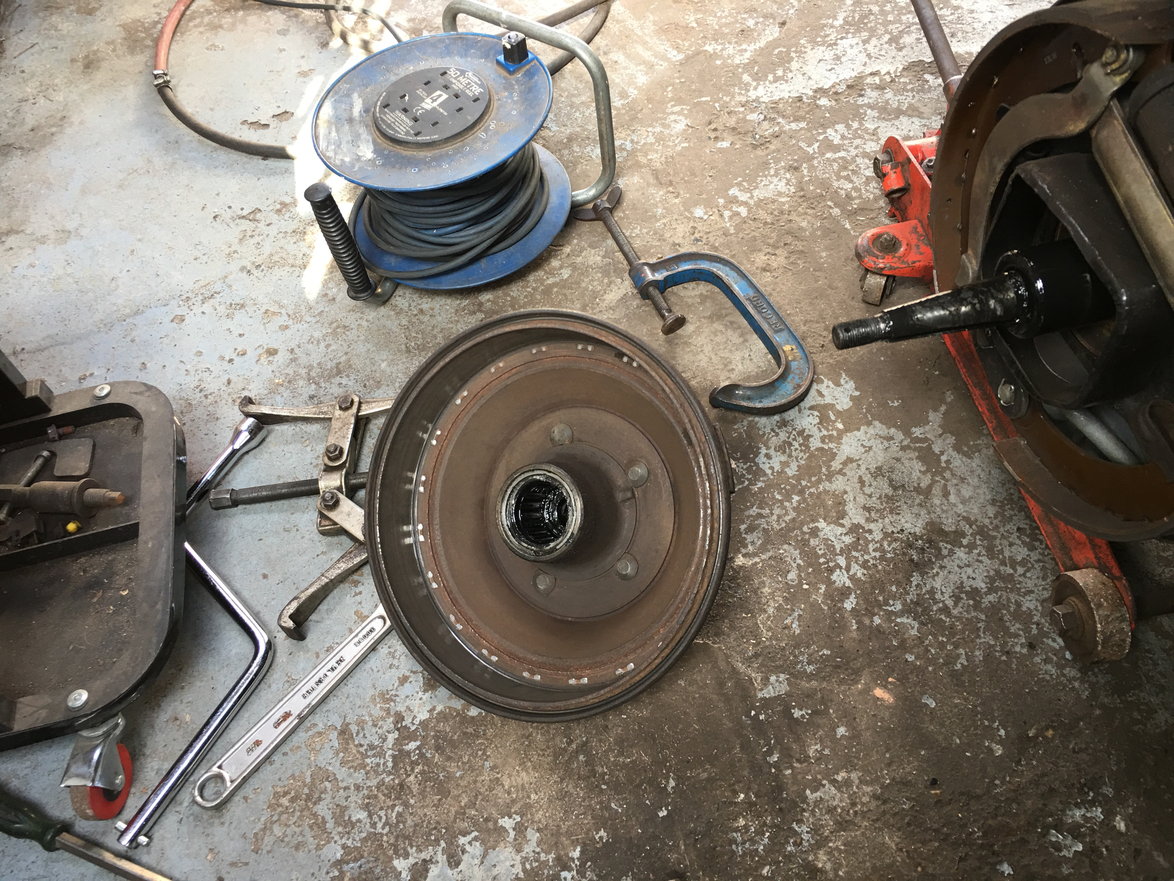 Brake Drum with evidence of contact