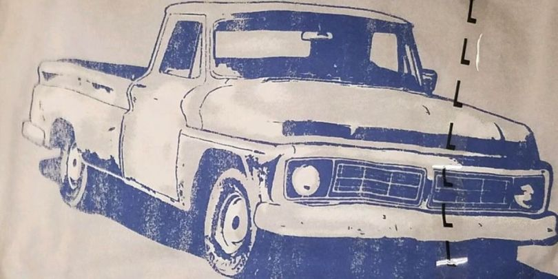kohle28099s-is-selling-a-t-shirt-featuring-a-chevy-truck-with-a-ford-grille