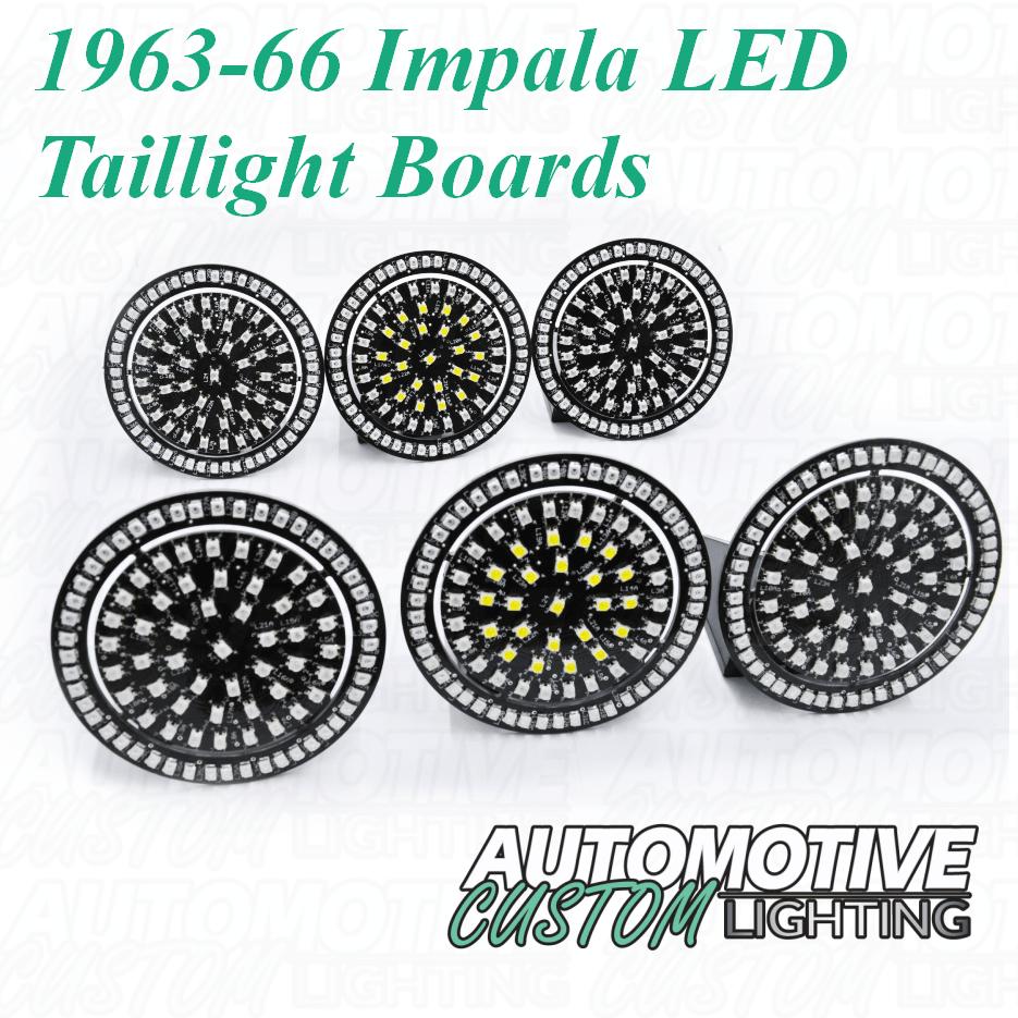 medium resolution of 1963 64 chevrolet impala led tail light boards