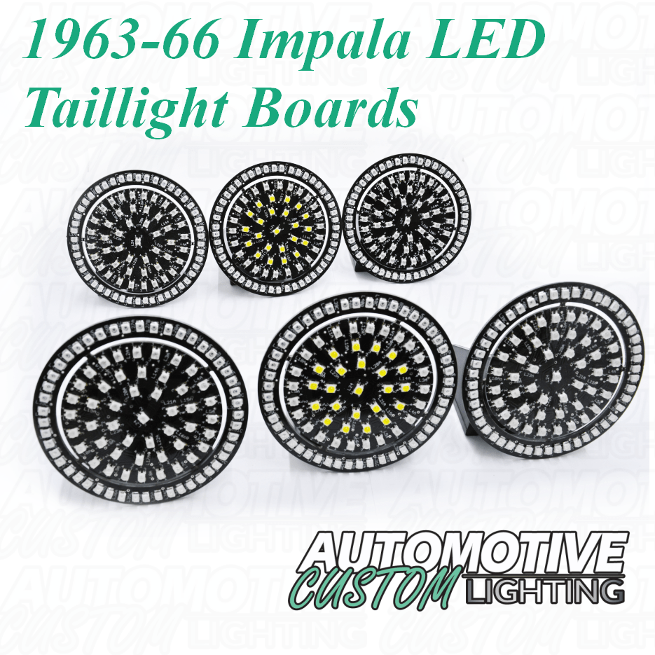 hight resolution of 1963 64 chevrolet impala led tail light boards