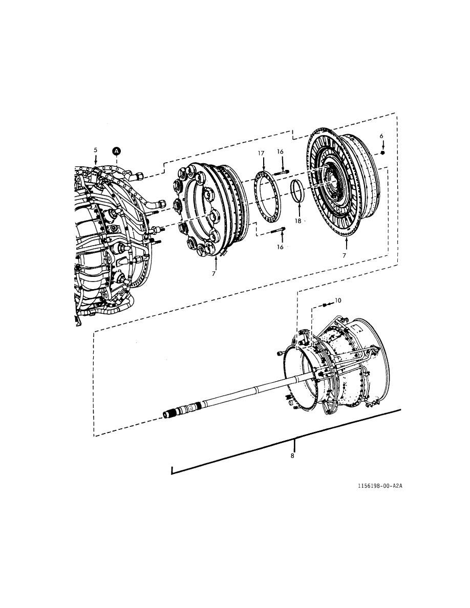 FIGURE 1. ENGINE ASSEMBLY, T700-GE-701 (SHEET 2 OF 2)