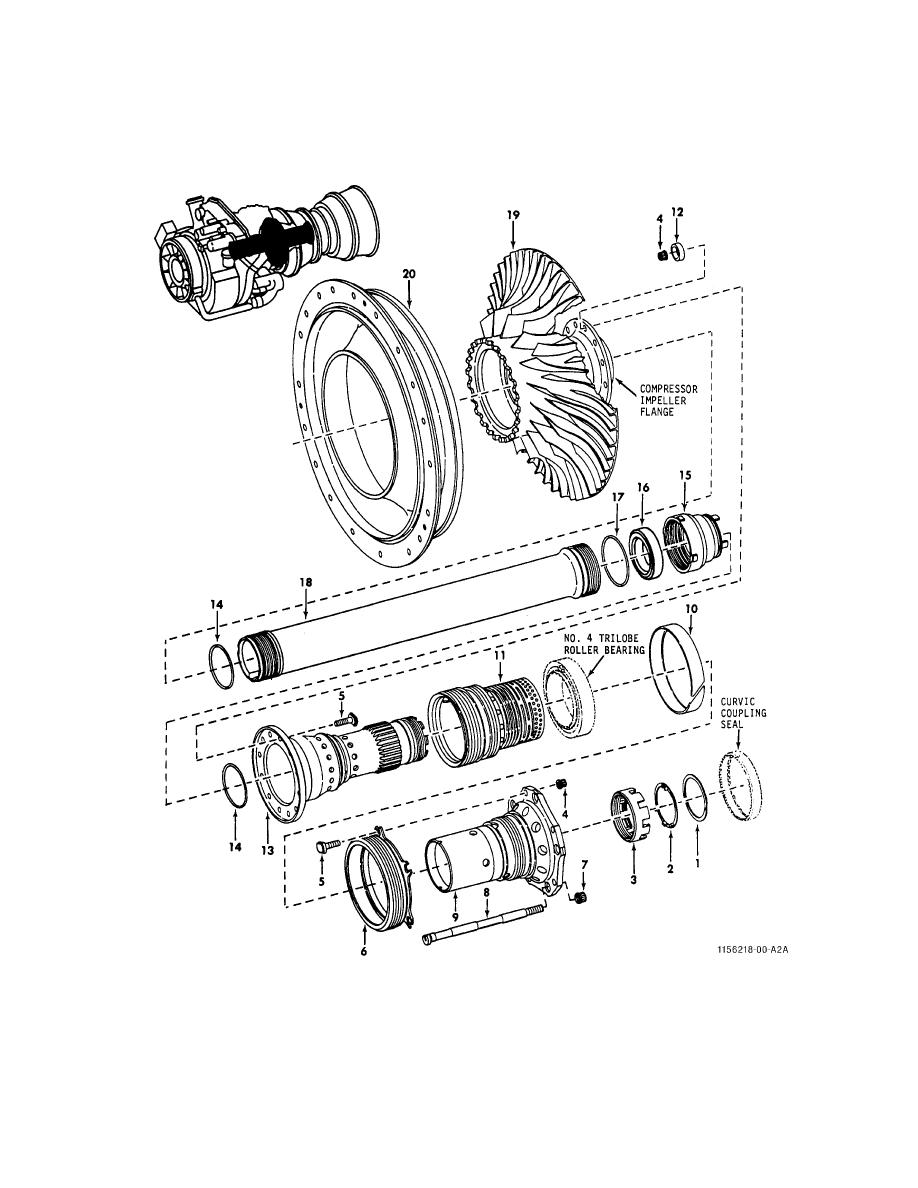 FIGURE 10. COMPRESSOR ROTOR (SHEET 1 OF 2)