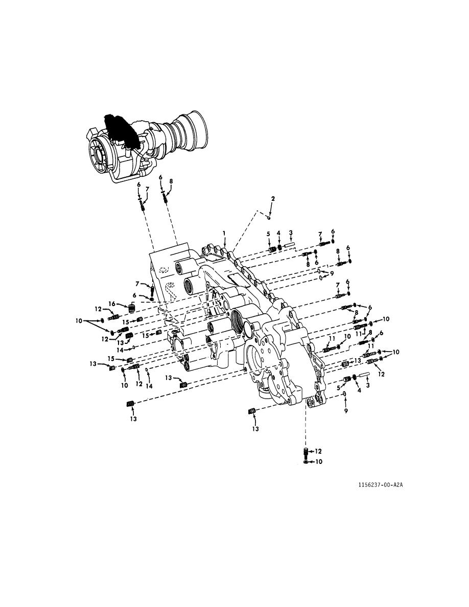 FIGURE 22. FRONT AND REAR GEARBOX HOUSINGS (SHEET 1 OF 2)
