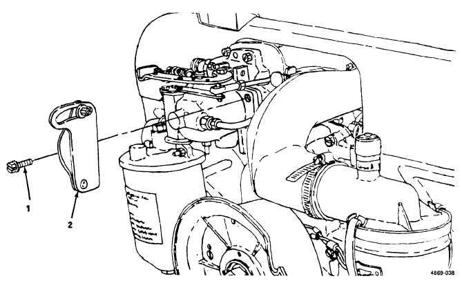 Figure 4-35. Governor/Carburetor Control, Removal and