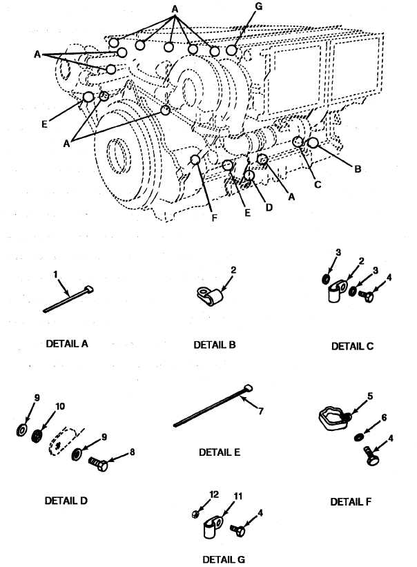 FIGURE 66. ENGINE WIRING HARNESS CLAMPS (MODEL AVDS-1790-2DR).