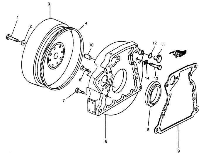 FIGURE 3-105. Flywheel and Housing Assembly
