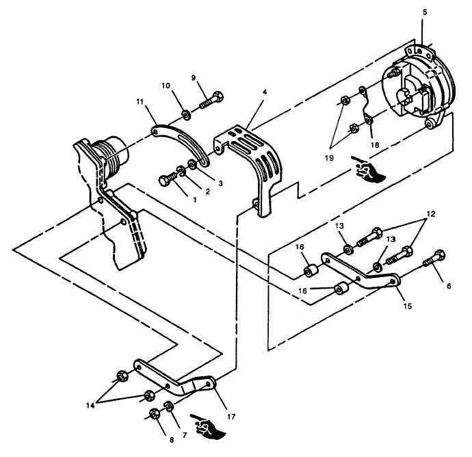 FIGURE 3-5. Battery Charging Alternator and Mounting