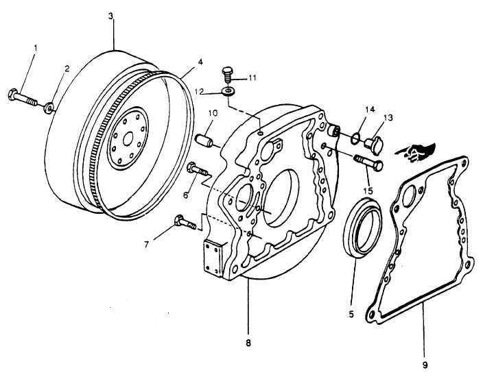 FIGURE 3-125. Flywheel and Housing Assembly