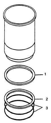 FIGURE 3-161. Location of Cylinder Liner Shim