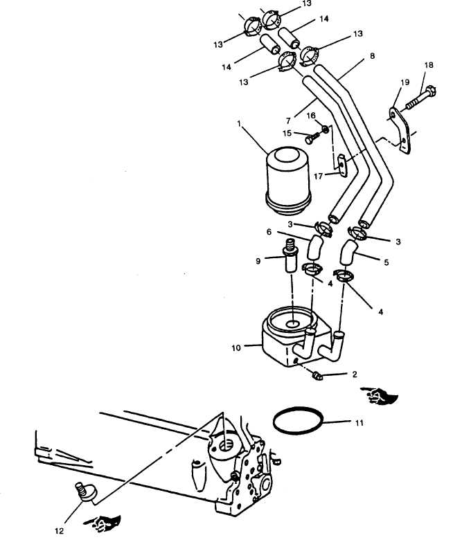FIGURE 3-46. Oil Filter and Cooler